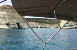 porty i otwicowiska na Milos