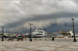 burza w porcie